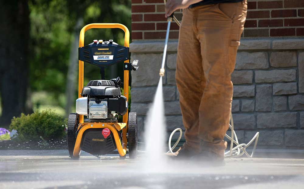 gas pressure washer in electric vs gas