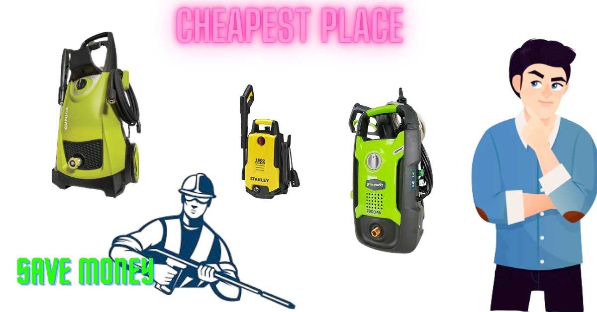 cheapest place to buy a pressure washer in 20202
