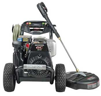 this is the simpson best gas pressure washer for washing cars