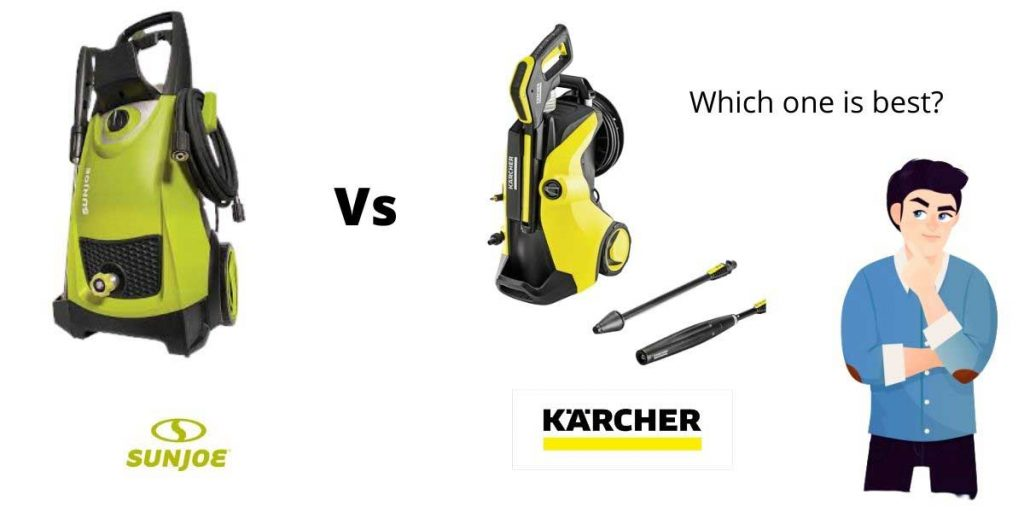 this is the complete comparison of karcher vs sun joe pressure washers