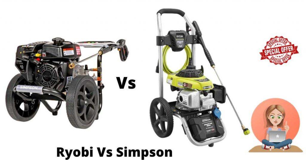 Ryobi vs Simpson pressure washer