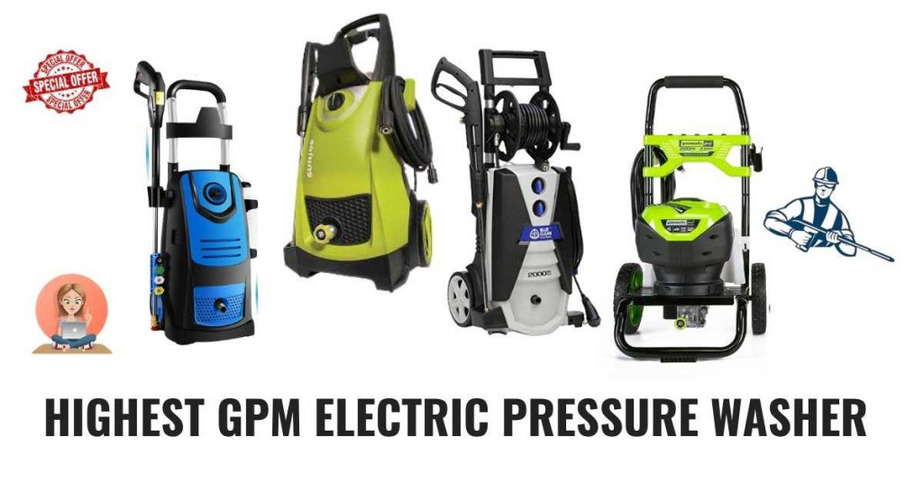 Highest GPM electric pressure washer in the market