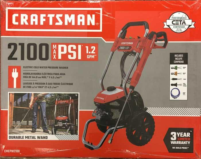 craftsman 2100 PSI pressure washer